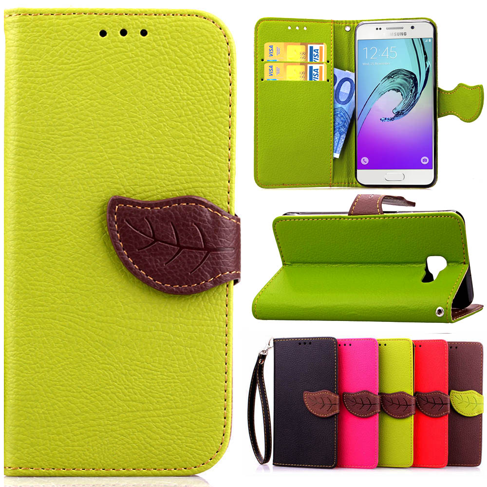 Leather Flip Case for Samsung galaxy J1 J2 J3 J5 J7 A3 A5 A7 A8 A9 2016 2015 Silicone Back Cover Leather Wallet Phone Cases