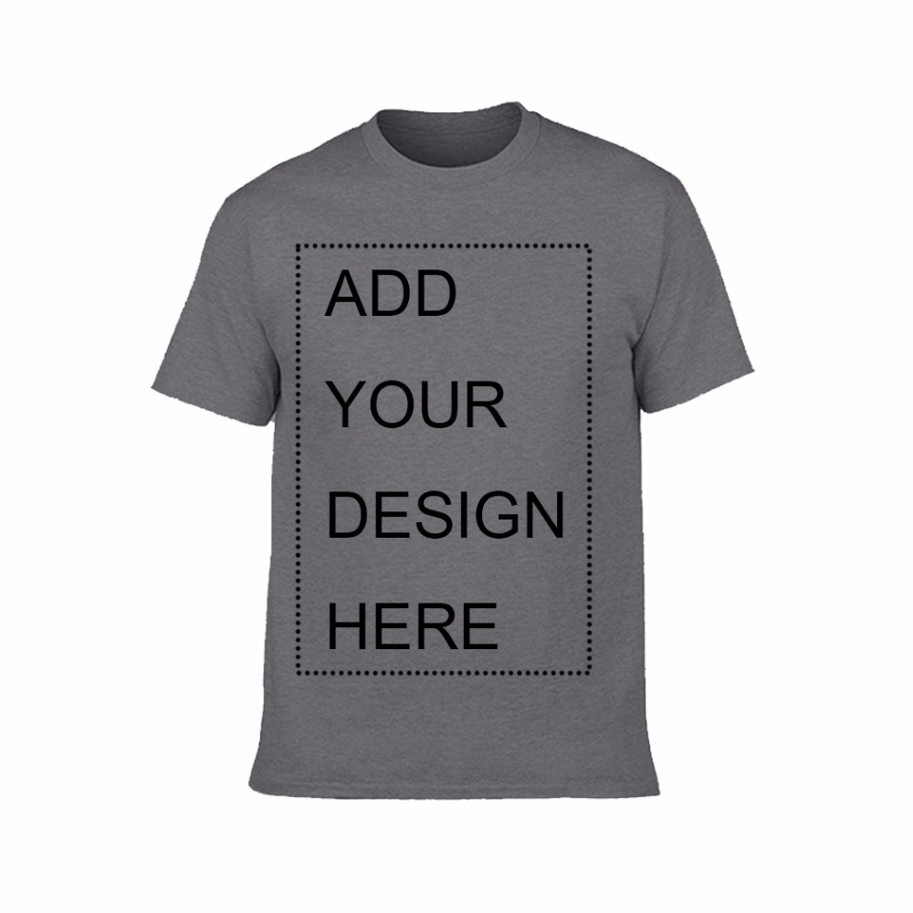 Custom Printed Cotton Crew Neck Men's T-Shirt