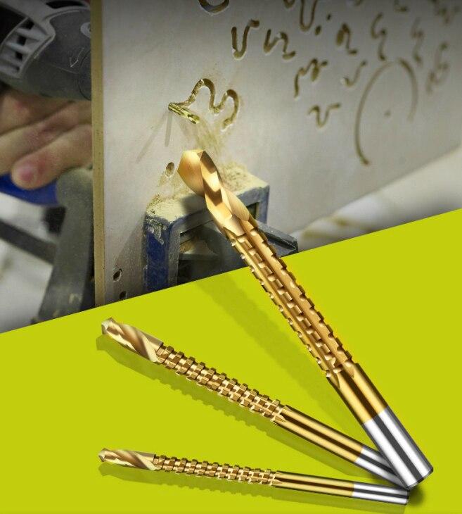 LANNERET 6PCSS Power Drill & Saw Set HSS Steel Titanium Coated Woodworking Wood Twist Drill Bit (4)