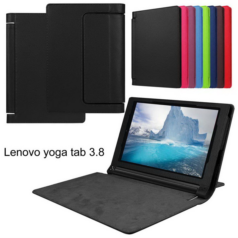 "Premium Flip PU Leather Smart Back Cover for Lenovo yoga tablet 3 8""850F YT3-850F 850L 850M Stand Case+Stylus/Pen free Shiping"