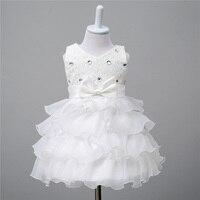 מתוק טול כדור שמלה ללא שרוולים נסיכת תינוק אור מדהים סקופ רכבת קפלת שמלת שושבין חתונת הילדה פרח קטן