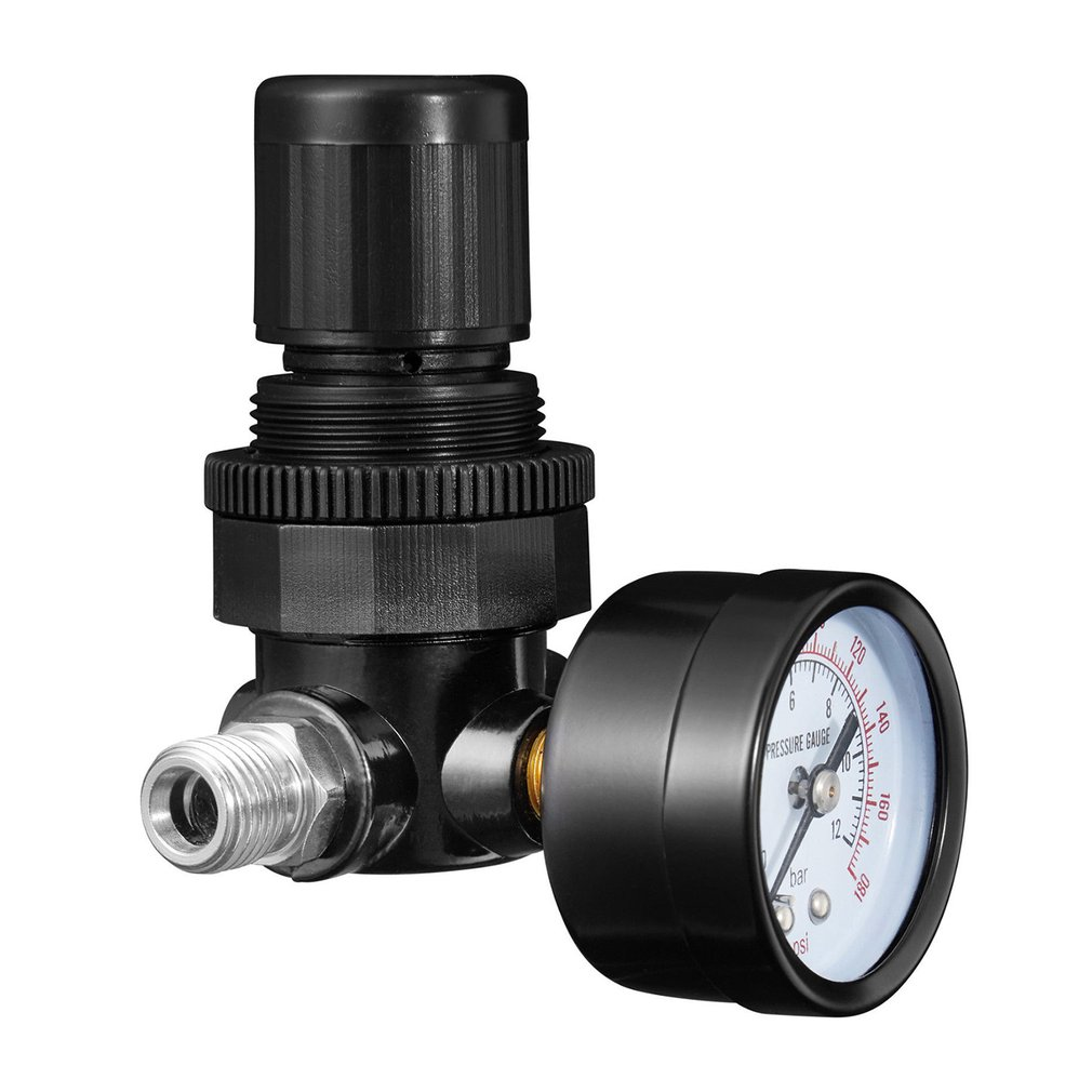 Mini 14 Thread 180PSI12Bar Air Pressure Reducing Regulator Air Source Treatment Unit With Pressure Gauge Easy Installation