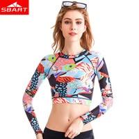 SBART Rash Guard Long Sleeve Swimwear Women Swim Shirts Swimsuit Womens Bathing Suit Sun Protection Lycra