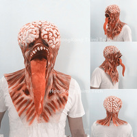 Brain Long tongued Halloween Monster Scary Mask Latex Devil masks masquerade party silicone Horror Zombie Terror