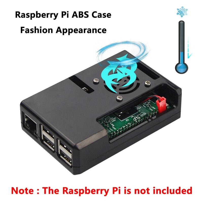 Raspberry Pi 3 чехол 4 цвета корпус из АБС-пластика Box совместим с Raspberry Pi 3 Model B + 3B 2B B + Pi3 Shell B плюс корпус