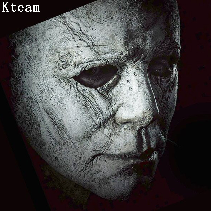 2019 New Hot Movie Halloween Horror Michael Myers Mask Cosplay Adult Latex  Full Face Helmet Halloween Party Scary Props Toys