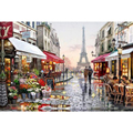 Diy digital oil painting by numbers paint drawing coloring by number canvas hand painted picture wall decor eiffel towel cc99
