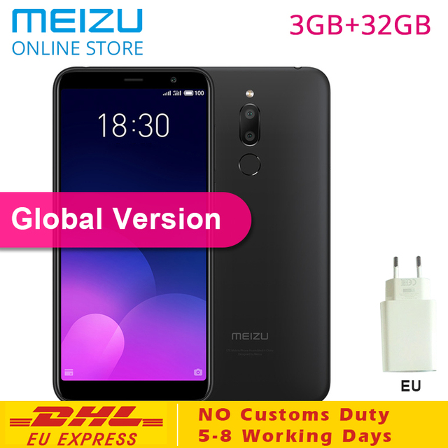 "Original Meizu M6T Global Version 3GB RAM 32GB ROM SmartPhone MTK6750 Octa Core 5.7"" IPS Screen Dual Rear Camera Meilan M 6T EU"
