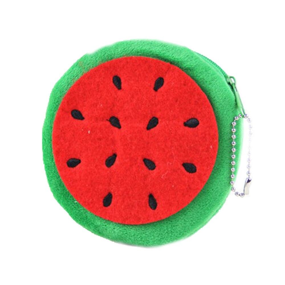 Nieuwe Mode kleurrijke Kawii Vruchten Citroen Watermeloen Draagbare Pluche Pocket Portemonnee Knuffel Sleutelhanger cartoon ontwerp dropshipping