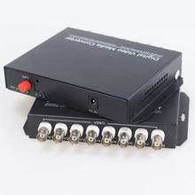 20Km 8 Kanaals Digitale Video Glasvezel Media Converters Zender En Ontvanger Voor Cctv Analoge Camera Surveillance Systeem