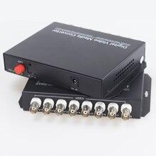 Transmetteur récepteur à Fiber optique numérique, 20km, 8 canaux, convertisseurs et récepteurs pour vidéosurveillance, caméras analogiques, système de Surveillance