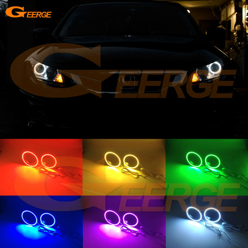 For Honda Accord coupe 2008 2009 2010 2011 Excellent Angel Eyes Multi-Color Ultra bright RGB LED Angel Eyes kit Halo Ring for honda cr v crv 2007 2008 2009 2010 2011 projector headlights excellent ultra bright smd led angel eyes halo ring kit