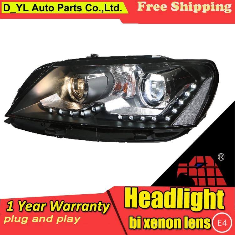 Car Styling For VW Passat headlights 2011 2015 Passat led headlight Head Lamp led drl projector