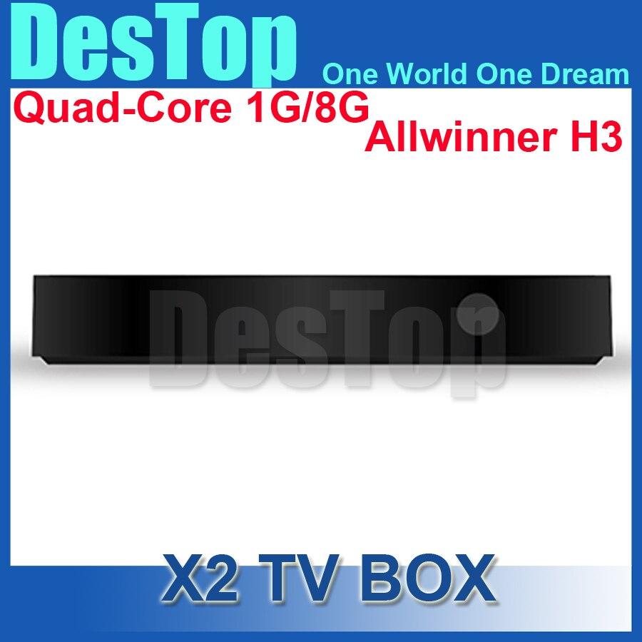 Prix pour 2015 D'origine Beelink x2 Android 4.4 TV BOX H3 Quad-core Cortex-A7 4 K * 2 K HD 1080 P Smart TV mieux que, cs918, m8, mx, minix