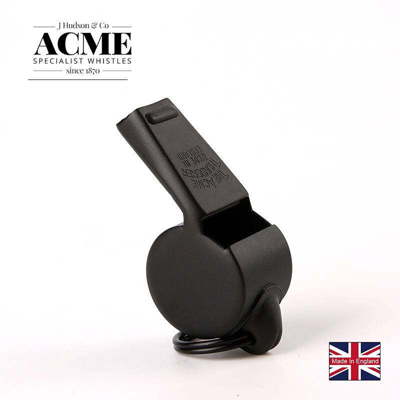 ACME59.5 Black Metal Referee Coach Cheerleading Whistle Personality Laser Lettering Service Birthday  Gift Collection For Lovers