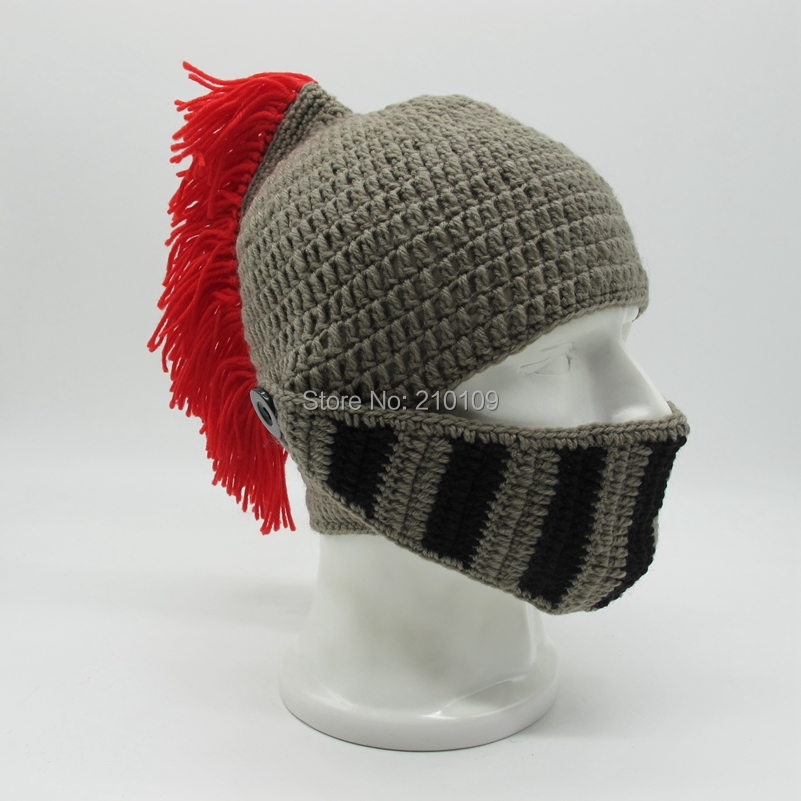 3 Red Tassel roman hat with mask