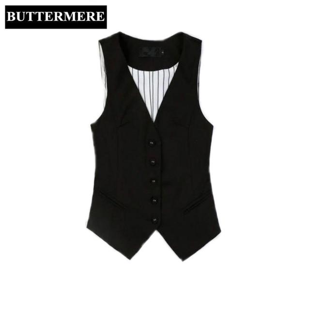 buttermere marke kleidung damen weste tops schwarz anzug westen v ausschnitt weste frauen. Black Bedroom Furniture Sets. Home Design Ideas
