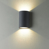 Modern Waterproof AC85 265V 6W LED Wall Lamp Half Cylindrical Porch Lamp Outdoor Hallway Staircase Up