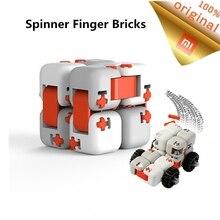 Original Xiao mi tu Cubes Spinner doigt briques mi blocs de construction doigt Spinner Intelligence enfants jouets Anti Stress anxiété