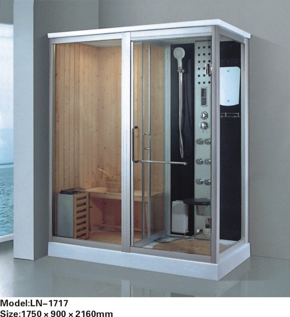 Sliding Glass Shower Door Handles / Acrylic Bath Tray Tempered Glass Steam  Shower Room