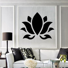 Art  Wall Sticker Lotus Decoration Flower Buddhism Hinduism Yoga Room Removeable Poster Beauty Mural LY246