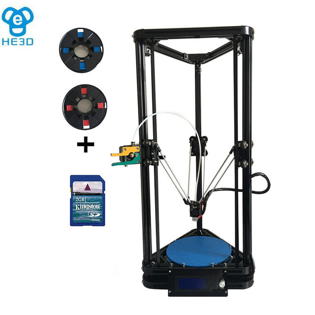 the newest HE3D full metal extruder autolevel hotend K200 delta 3d printer kit- support multi material