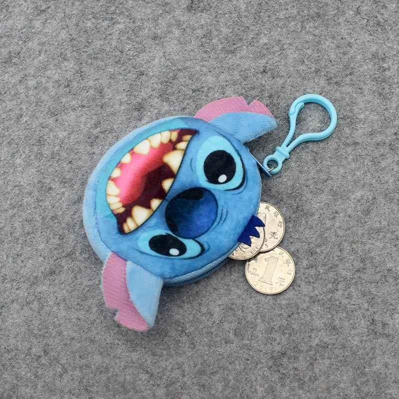 Crianças dos desenhos animados 3D Lilo Ponto de Pelúcia da Senhora Bolsa Da Moeda Da Carteira Bolsa de Bolsa Pingente Saco Titular Bolsa De Armazenamento de Maquiagem bolsa