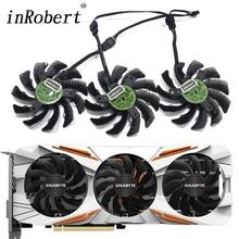 Ventilador de refrigeração, 75mm t128010su 0.35a gigabyte aorus gtx 1060 1070 1080 g1 gtx 1070ti 1080ti 960 980ti 760 ventilador cooler para placa de vídeo
