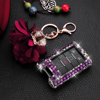 Car Key Shell Cover Luxury Handmade Shining Diamond for Cadillac CTS XTS ATS SLS SRX ATSL STS Key Chain Protection Accessories