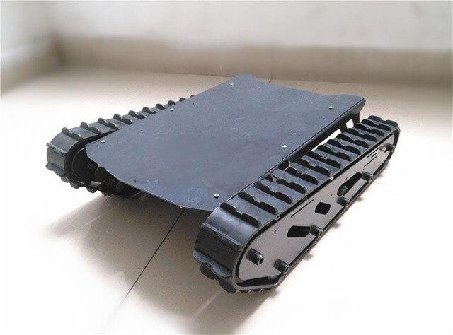 15 كجم كبيرة/كبيرة تحميل T007 روبوت خزان السيارة الشاسيه مع المطاط المسار محرك الطاقة الكبيرة لمشروع الروبوت اردوينو كاتربيلر تتبع