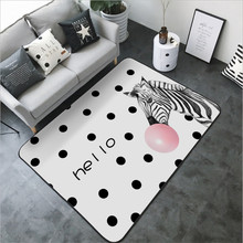 Nordic Modern Zebra Pink Bubble Pattern Carpet Rugs and Carpets for Home Living Room Sofa Coffee Table Mat Non-slip Floor Mat(China)
