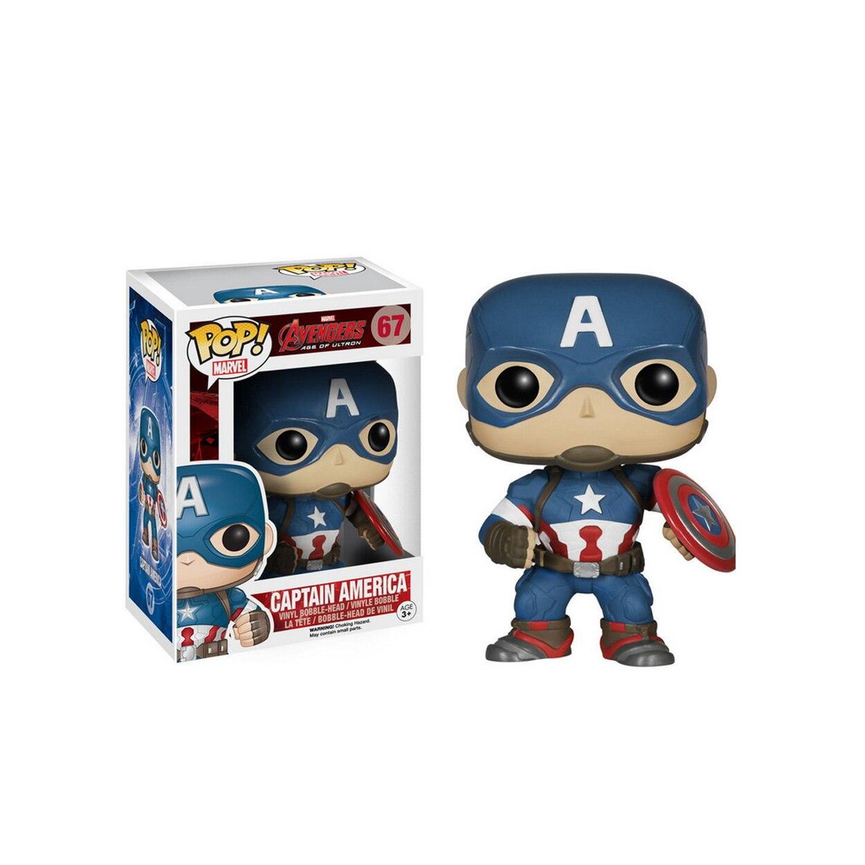 <font><b>Funko</b></font> <font><b>Pop</b></font> <font><b>Marvel</b></font> <font><b>Captain</b></font> <font><b>America</b></font> Avengers 67# <font><b>Civil</b></font> <font><b>War</b></font> <font><b>3</b></font> PVC Movie Vinyl Cute Action Figure Collection Gifts Toys