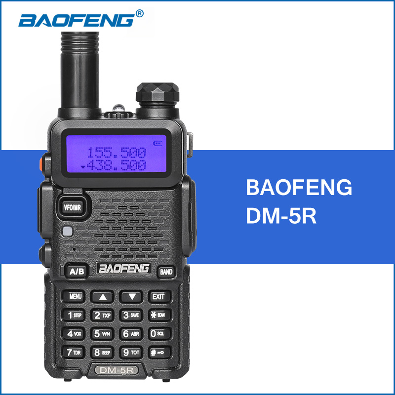 BAOFENG DM-5R Walkie Talkie DMR Digitale Funk UV5R Verbesserte Version VHF UHF 136-174 MHZ/400-480 MHZ 2000 mAh Tragbare Walkie Talkie