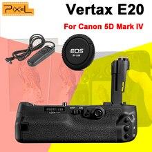 Новый Pixel Vertax E20 Professinal Аккумулятор Ручка Для Canon 5D Mark IV/5D4/5D Маркив и Камеры Крышка & Проводной Затвора RC-201 релиз