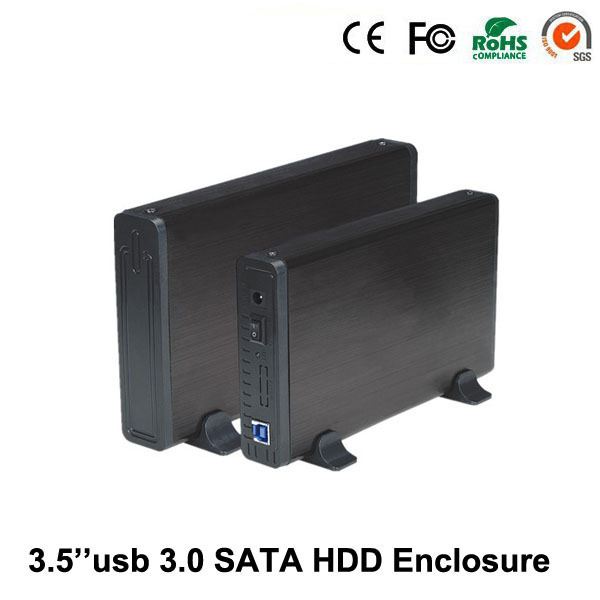 """Hot selling in the market Aluminum black High speed usb 3.0 to sata up to 4TB External 3.5"""" HDD 4TB Enclosure Case"""