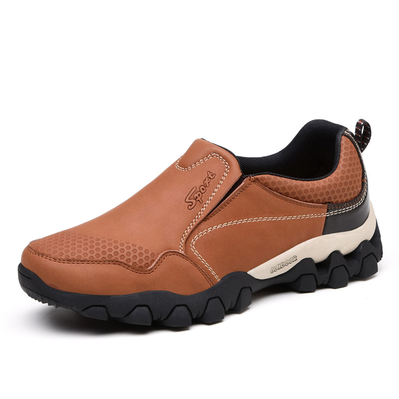 2017 New Autumn Winter Mens Good Quality Outdoor Hiking Shoes Big Size Men Shoes Mountain Slip On Leather Trekking Athletic Shoe mans shoes mountain big size brand shoe men sport anti slippery hiking shoes mens good quality outdoor hiking trainers