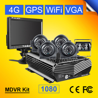 8CH 4G GPS Wifi Car Dvr Video Recorder Waterproof Metal Night Vision Side Front Back View Car Camera Kits+7Inch Car Monitor