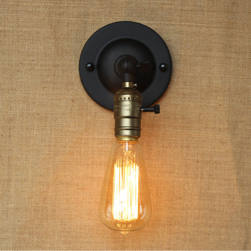 AC90 240 RH Loft Knob Switch Wall Sconces Lamp Vintage Bed Balcony Cafe  Home Mini Decorative Wall Light Sconce Fixture In Wall Lamps From Lights U0026  Lighting ...