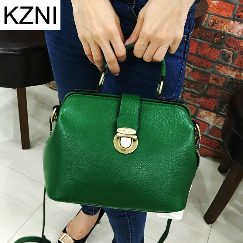 KZNI Genuine Leather Purse Crossbody Shoulder Women Bag Clutch Female Handbags Sac a Main Femme De Marque L010323 hobos bags handbags women famous brand female high quality leather shoulder bag women crossbody bag sac a main femme de marque