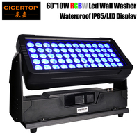 TIPTOP TP-W6010 60x10 Alto Brilho À Prova D' Água W RGBW Conduziu a luz do Flash Estande Luz Da Arruela Da Parede de Iluminação Leds Tyanshine UE /EUA/AU Plug