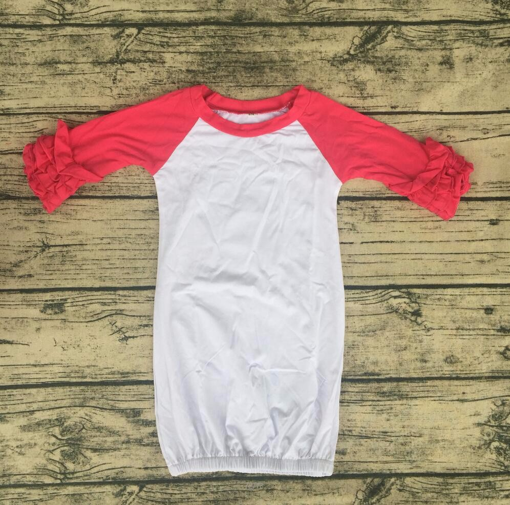 Blank Boutique Newbown Baby Sleep Dress Long Infant Icing Raglan