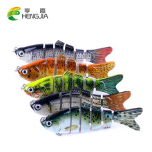 Купить с кэшбэком HENGJIA 6 jointed Crankbait Fishing Wobblers 10cm 18g Lifelike Fishing Lure Isca Artificial swim Bait Fishing Tackle pesca peche