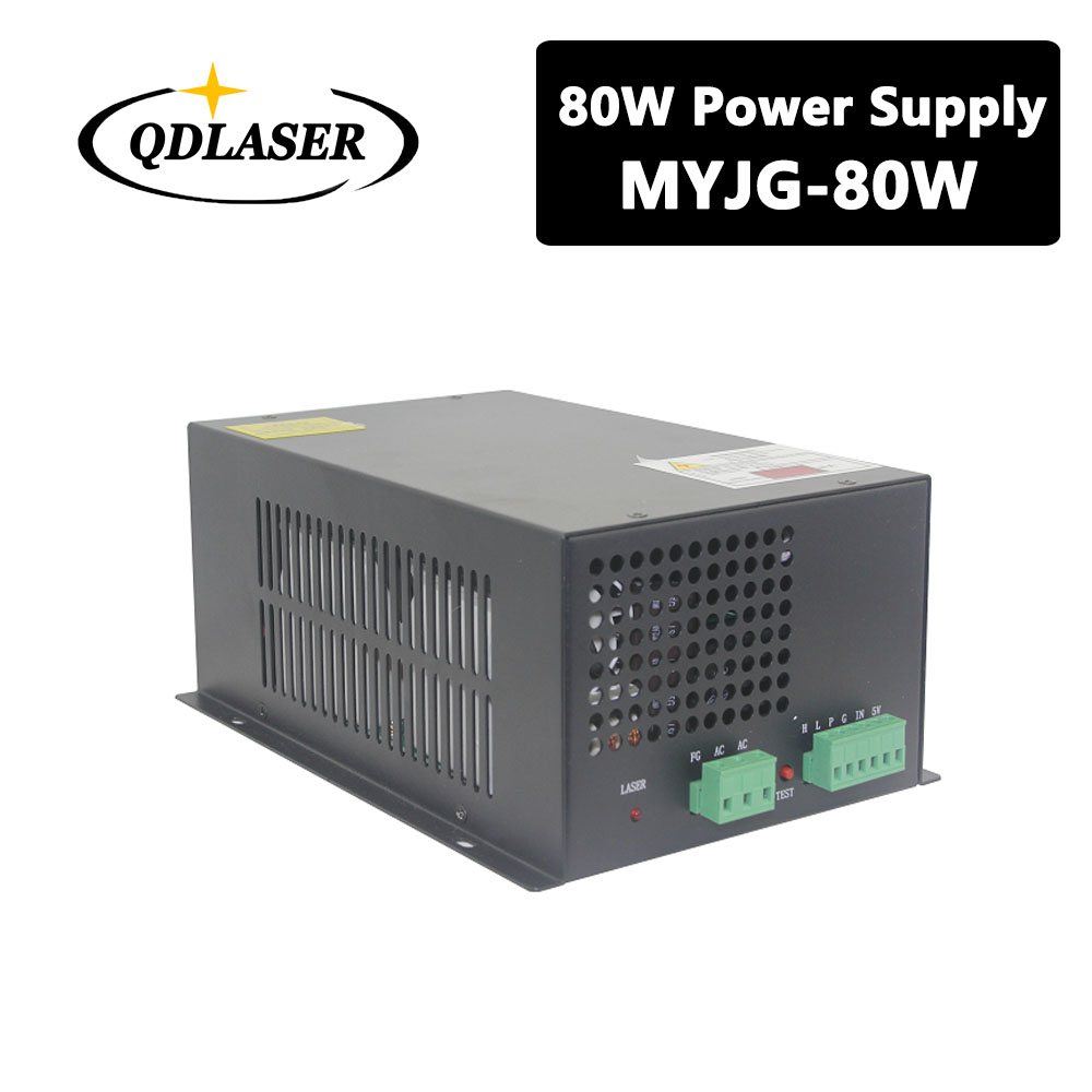 80W CO2 Laser Power Supply for CO2 Laser Engraving Cutting Machine MYJG-80W 60w co2 laser power supply for co2 laser engraving cutting machine myjg 60w