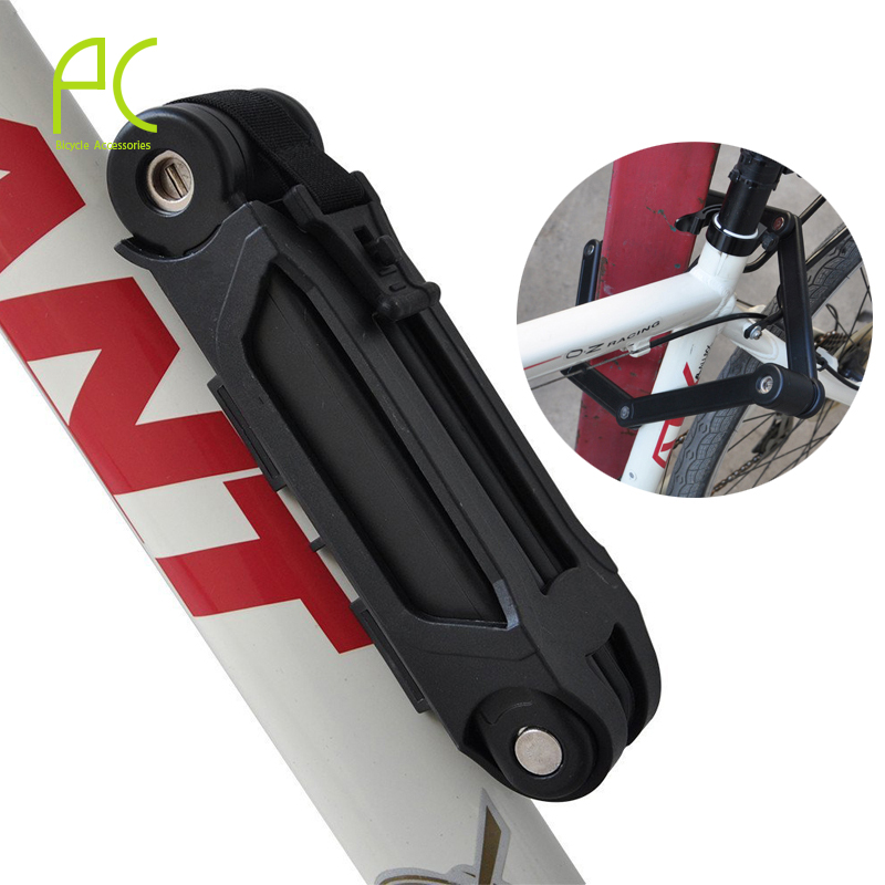 Pcycling anti theft bicycle lock professional foldable bike lock mtb road cycle chain lock 45 850mm