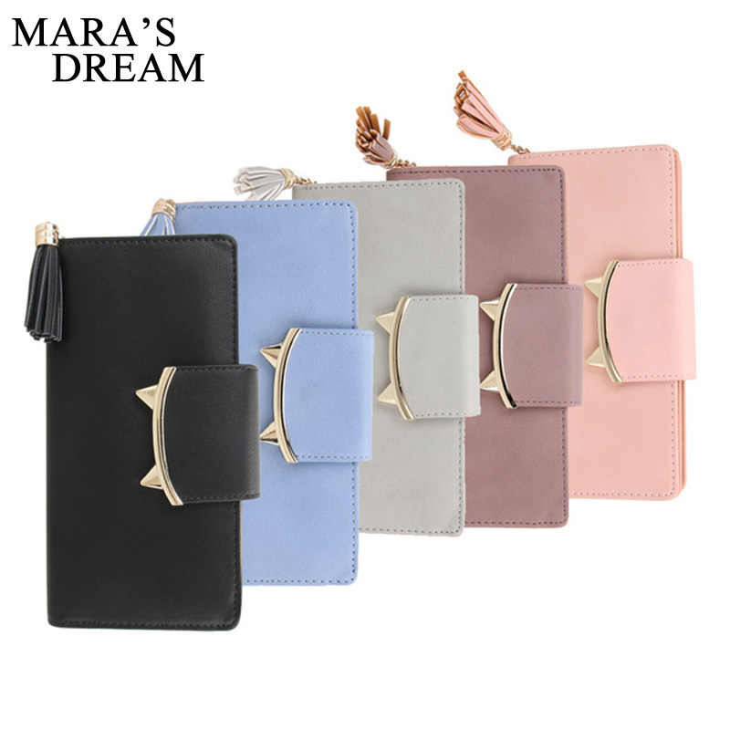 Mara's Dream Design Women PU Leather Wallets Long Tassel Girl Cute Cell phone Card Coin Holder Clutch Purse Lady Burse Money Bag 2016 hot fashion women wallets handbag solid pu leather long bag designer change clutch lady brand cash phone card coin purse