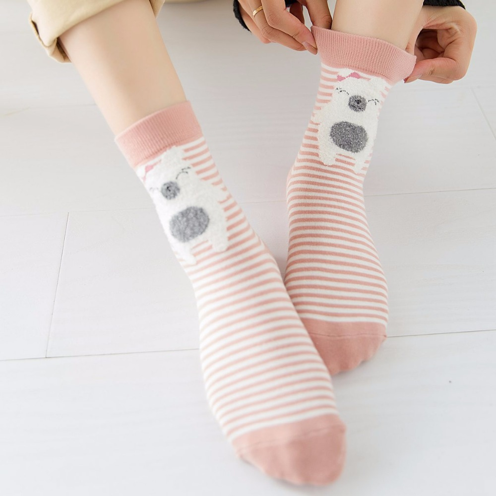 Women Socks Wool Upscale Soft Warm Winter Short Socks Compression Thick Brand Boot Ladies Socks MDA6