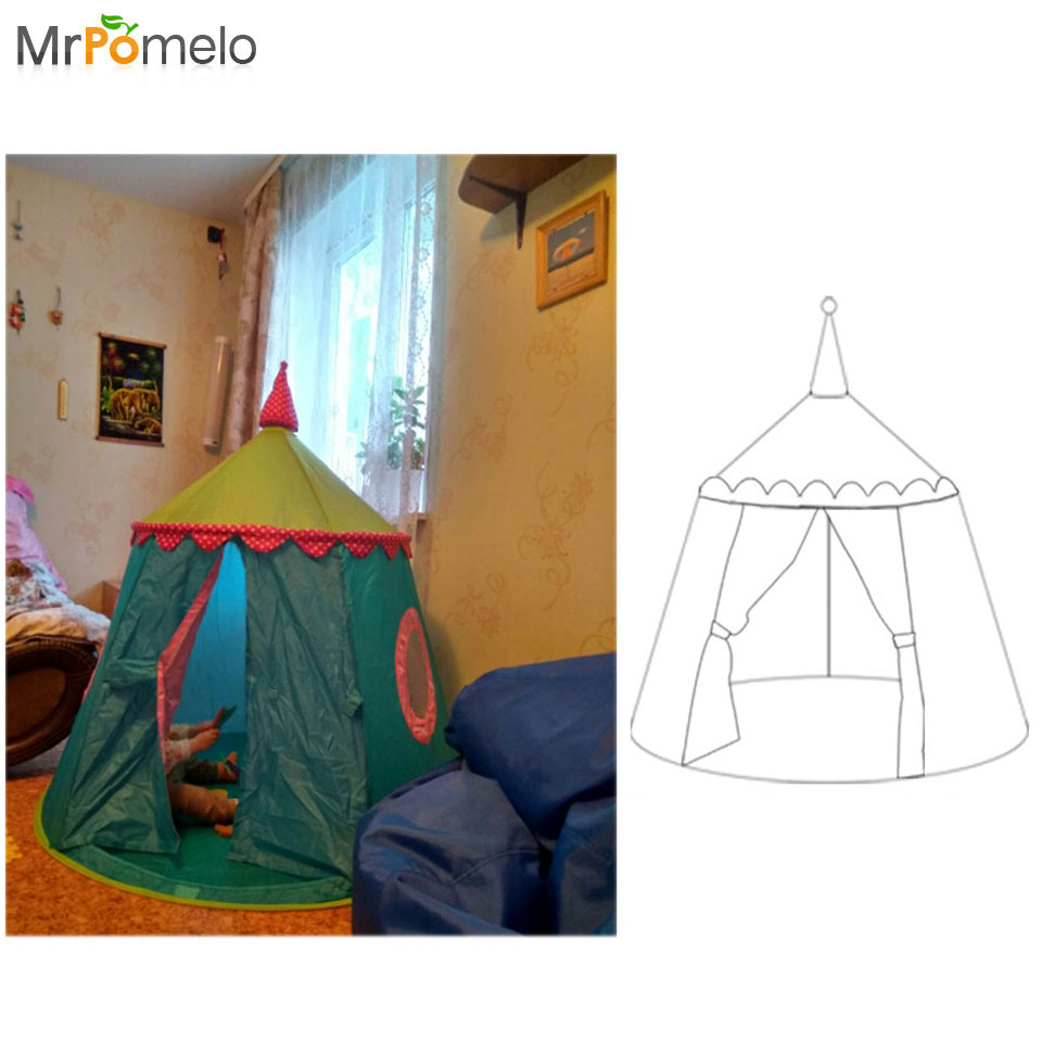 MrPomelo Portable Toy Tents Strawberry Ball Pool Children's Outdoor Garden Foldable Toy Tent Teepee Castle Outdoor Play House foldable baby playing house toys storage tents pool tube teepee 3pcs pop up children play tunnel tent kid ocean ball toy 985 q40