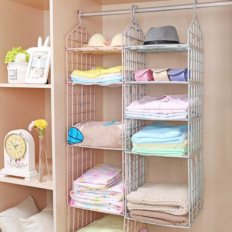 Foldable Hanging Storage Rack Multi