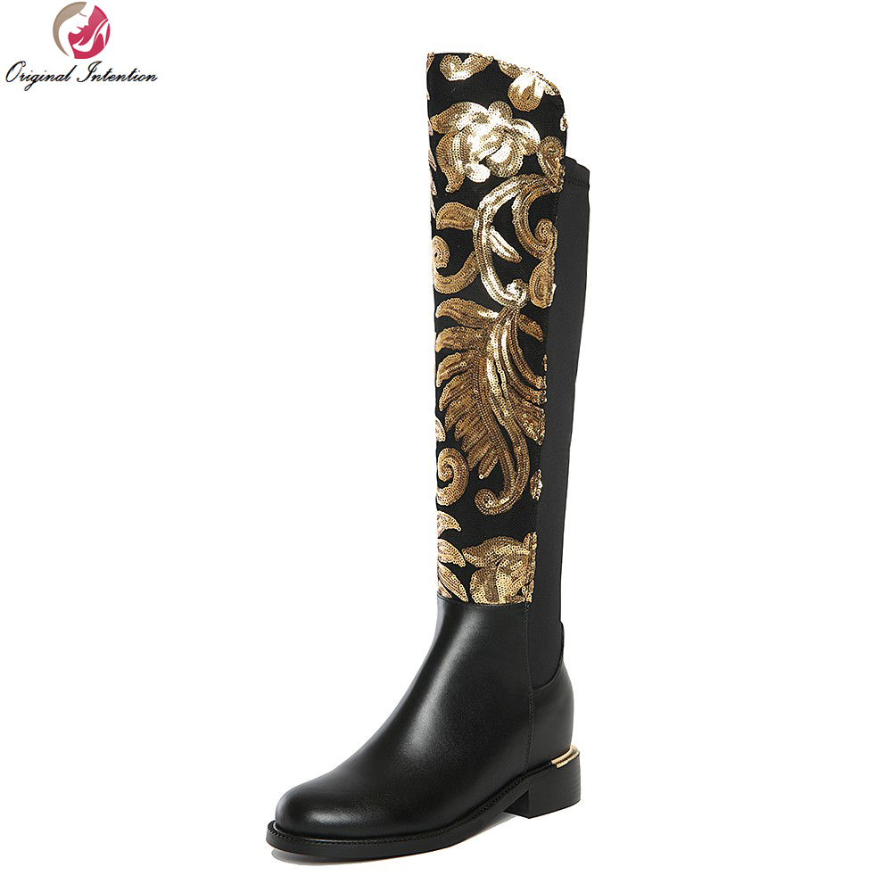 Original Intention Super Gorgeous Women Knee High Boots Beautiful - Damskor