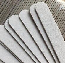 Бесплатная доставка 500 шт. белая деревянная пилка для ногтей 100/180 деревянная пилка для ногтей инструмент для маникюра